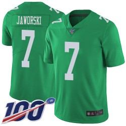 Limited Youth Ron Jaworski Green Jersey - #7 Football Philadelphia Eagles 100th Season Rush Vapor Untouchable