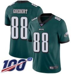 Limited Men's Dallas Goedert Midnight Green Home Jersey - #88 Football Philadelphia Eagles 100th Season Vapor Untouchable