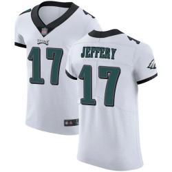 Elite Men's Alshon Jeffery White Road Jersey - #17 Football Philadelphia Eagles Vapor Untouchable