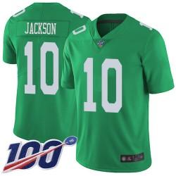 Limited Men's DeSean Jackson Green Jersey - #10 Football Philadelphia Eagles 100th Season Rush Vapor Untouchable