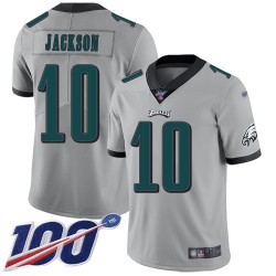 Limited Men's DeSean Jackson Silver Jersey - #10 Football Philadelphia Eagles 100th Season Inverted Legend